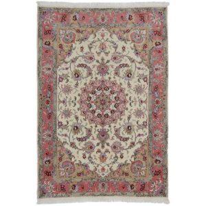 Kézi csomózású perzsa szőnyeg Tabriz Mashad 134x210 nappali szőnyeg