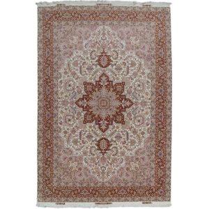 Kézi csomózású perzsa szőnyeg Heriz 202x316 nappali szőnyeg