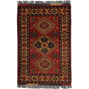 Gyapjú szőnyeg Kargai 61x89 kézi csomózású nappali szőnyeg