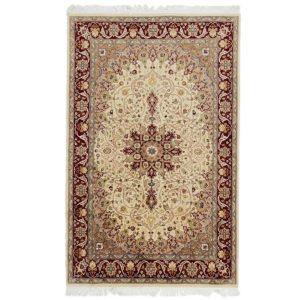 Kézi csomózású perzsa szőnyeg Isfahan 136x214 nappali szőnyeg