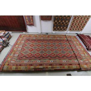 Nagyméretű szőnyeg Chobi Kilim 404x814  Rongyszőnyeg / kilim szőnyeg