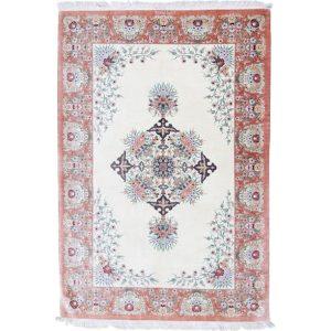 Selyem szőnyeg Ghom 129x199 kézi csomózású perzsa szőnyeg