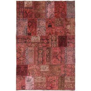 Gyapjú szőnyeg Patchwork 197x305 kézi csomózású szőnyeg