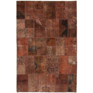 Gyapjú szőnyeg Patchwork 197x296 kézi csomózású szőnyeg