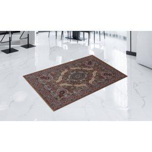 Gépi Perzsa szőnyeg Medalion brown 80x120 (Premium) klasszikus perzsa szőnyeg
