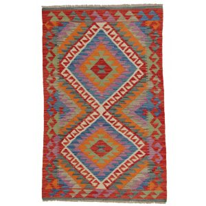 Rongyszőnyeg / kilim szőnyeg Chobi 81x130